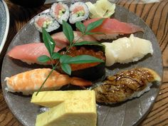 nigiri, gunkan and makimono