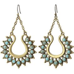 Lucky Brand Turquoise Spike Earrings ($35) ❤ liked on Polyvore featuring jewelry, earrings, spike earrings, green turquoise earrings, turquoise jewellery, lucky brand jewellery and blue turquoise earrings