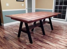 reclaimed wood slab table - Google Search