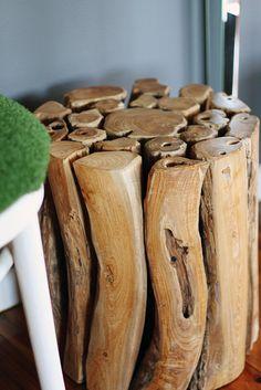Wood stool by ishandchi, via Flickr