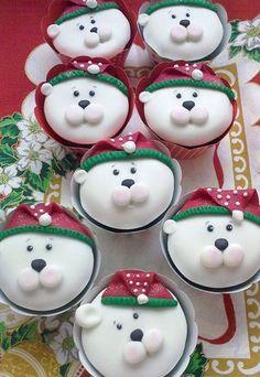 #Cupcakes Navideños - El #postre de moda #Xmas #Navidad #cocina