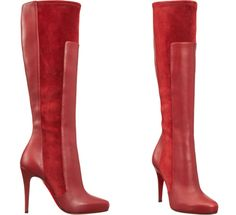 Christian Louboutin Red larger boots knee high