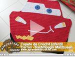 Tapete Crochê Infantil Carros - Relâmpago MacQueen