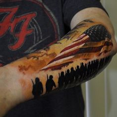 Memorial Day tattoo on Arm