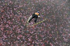Austria's Gregor Schlierenzauer soars through the air during his final jump to win the third stage of the four hills ski jumping tournament in Innsbruck, Austria.