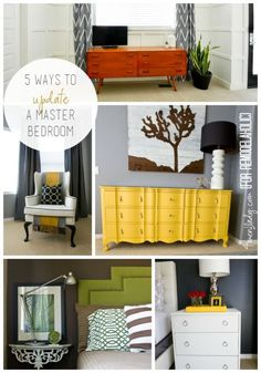 Great tips to update the master bedroom. Create an inviting and romantic master bedroom!