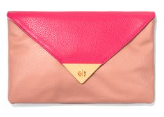Color-blocked clutch ($25 at Forever 21)--wonder if they have other color choices?
