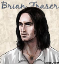Jamie Fraser's Father, Brian Fraser original art by Alex Oliver. So fascinating how similar Alex's vision of him is to the actor, Andrew Whipp, who has been cast to portray him. Claire Fraser, Jamie And Claire, Jamie Fraser, Outlander Book Series, Saga, Ron Moore, Outlander Fan Art, Outlander Casting, Movies