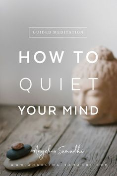 How to Quiet Your BUSY MIND + Guided Meditation.How to Quiet Your BUSY MIND + Guided Meditation. In this video, I'll explain why our minds are non-stop when we try to meditate and how to quie Zen Meditation, Short Guided Meditation, Meditation For Anxiety, Walking Meditation, Meditation For Beginners, Meditation Benefits, Meditation Techniques, Meditation Quotes, Meditation Practices