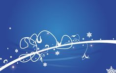 Icy Flourish Christmas Background Vector @freebievectors