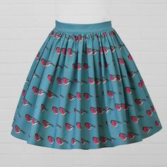 Diva Bara Fashion inspired by stories and places, our own fabric designs turned into clothes, gifts and home decor. Bullfinch, Cotton Skirt, Fabric Design, Diva, Style Inspiration, Skirts, Clothes, Home Decor, Fashion