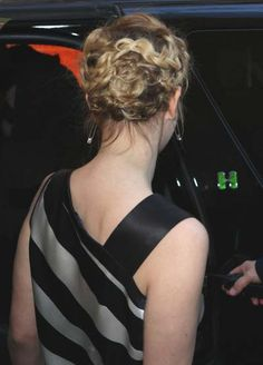 Drew Barrymores chic braided hairstyle