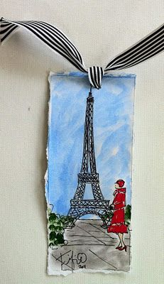 Cute watercolor bookmark.  sorry we learned about water color in art club yesterday so im gonna spam you with lots of water color because it so awesome!