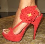 Red Suede...bold.