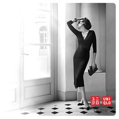 Ines de la Fressange wearing her collection. Available on March 13th in France and March 20th worldwide and on www.uniqlo.com
