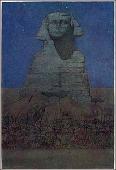 Jules Guerin illustration from _Egypt and its Monuments_ by Robert Hichens 1908