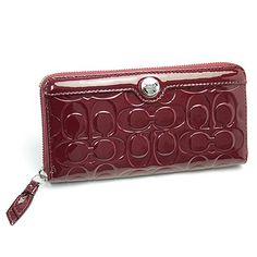 31a04b4604f1 Gallery Embossed Patent Leather Accordion Zip Around Wallet. Helen Cole · Coach  Wallets For Women