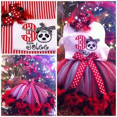 Panda  tutu outfit by TouchdownTutus on Etsy, $59.00