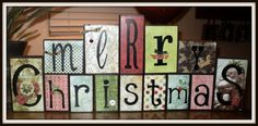 Could be a fun DIY project with old christmas cards or scrapbooking paper and letter decals