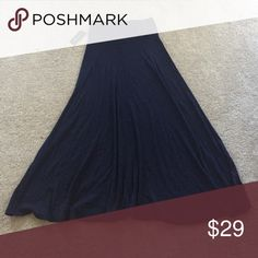 Navy Blue Maxi Skirt New with tags INC International Concepts Skirts A-Line or Full