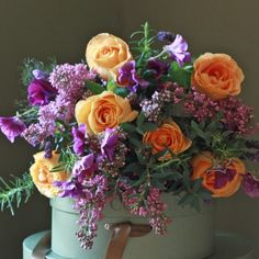 The Real Flower Company Lilac Brights Bouquet