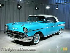 Turquoise 1957 Chevrolet Bel Air Convertible