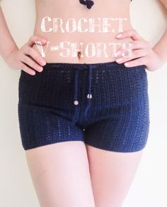 Crochet Patterns Pants Crochet shorts step by step tutorial.Crochet V Shorts Tutorial. In this tutorial I am making the crochet shorts based on my measurement, probably fit size SM. You can make this shorts based on your own measurement. Crochet Bodycon Dresses, Black Crochet Dress, Crochet Skirts, Crochet Yarn, Easy Crochet, Crochet Clothes, Free Crochet, Crochet Shorts Pattern, Crochet Patterns
