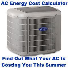 Find Your AC Energy Costs - AC Air Conditioning Unit Operating Energy Cost Calculator