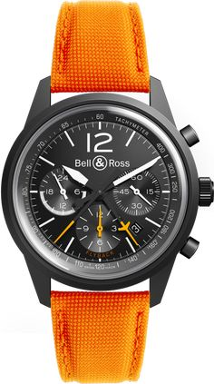 Bell & Ross BR126 Blackbird on Orange Strap