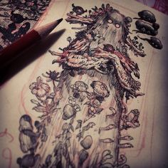 Sketch for a future illustration - stan Manoukian