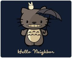 Hello Kitty and Totoro collaboration