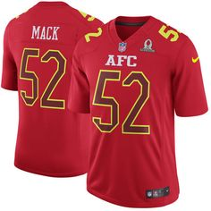 af247fdbaed Men AFC Oakland Raiders 52 Khalil Mack Nike Red 2017 Pro Bowl Game  Jerseycheap nfl jerseys,cheap mlb jerseys from chinajerseys.