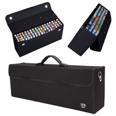 120 Slots Art Sketch Markers Pens Portable Carrying Storage Case Holders