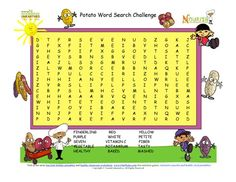 Potato Word Search Challenge For Kids-15 words!