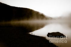 Smoke On Turquoise Lake Colorado Photograph by Jo Ann Tomaselli - Smoke On Turquoise Lake Colorado Fine Art Prints and Posters for Sale jo-ann-tomaselli.artistwebsites.com #joanntomaselli #fineartphotography #landscapephotography