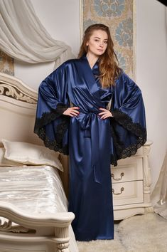 GITANA Robe in Royal Blue