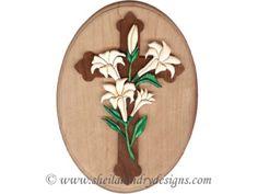 SLD233 - Easter Cross Simple Segmentation Plaque