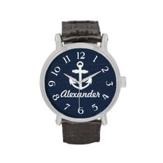 =>Sale on          	Navy Blue/White Nautical Anchor Custom Watch           	Navy Blue/White Nautical Anchor Custom Watch in each seller & make purchase online for cheap. Choose the best price and best promotion as you thing Secure Checkout you can trust Buy bestThis Deals          	Navy Blue/W...Cleck Hot Deals >>> http://www.zazzle.com/navy_blue_white_nautical_anchor_custom_watch-256401944046578644?rf=238627982471231924&zbar=1&tc=terrest