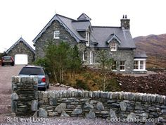 Split level house with three bays and central area with roof light, with generous contemprorary open space interior. Passive House Design, Irish Cottage, Cottage Renovation, Space Interiors, Roof Light, Future House, Home And Garden, Mansions, House Styles