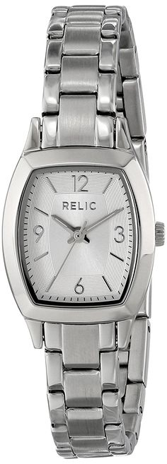 Relic by Fossil Women's Everly Quartz Stainless Steel Dress Watch Color: Silver-Tone (Model: Stainless Steel Mesh, Stainless Steel Bracelet, Relic Watches, Jewelry Clasps, Wooden Watch, Casual Watches, Quartz Watch, Fossil, Silver