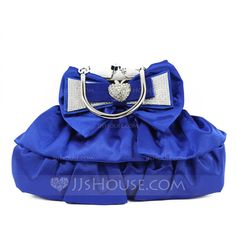 Shining Silk With Bowknot Clutches/Top Handle Bags (012052501)