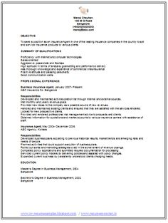 professional curriculum vitae resume template for all job seekers sample template of an experienced insurance - Resume Sample Doc