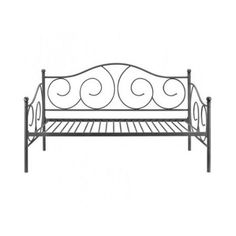 Metal Twin Size Daybed Furniture Slats Bedroom Home Relaxing Guests Bronze #Victoria #Contemporary