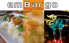 emBargo Tapas and Martini Bar on Main Street in Hyannis. The menu is expansive and inventive, featuring a wide array of options from on-site rolled sushi to nearly 30 hot and cold tapas. The ambiance adds to the experience with creative lighting, spacious booths and tables as well as a nightly filled dance floor. Live entertainment draws in the crowds on a regular basis and keeps them well into the night.