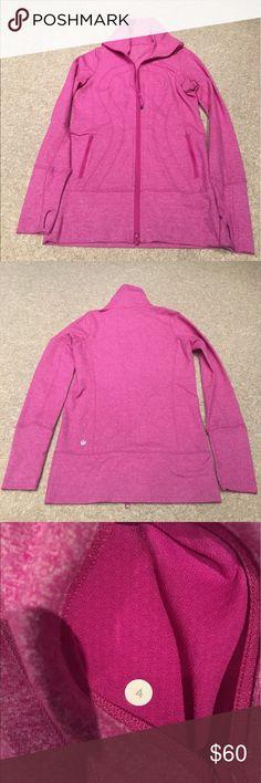 Lululemon Pink Zip Up Great condition. Size 4 pink heat here's Zip Up. lululemon athletica Tops Sweatshirts & Hoodies