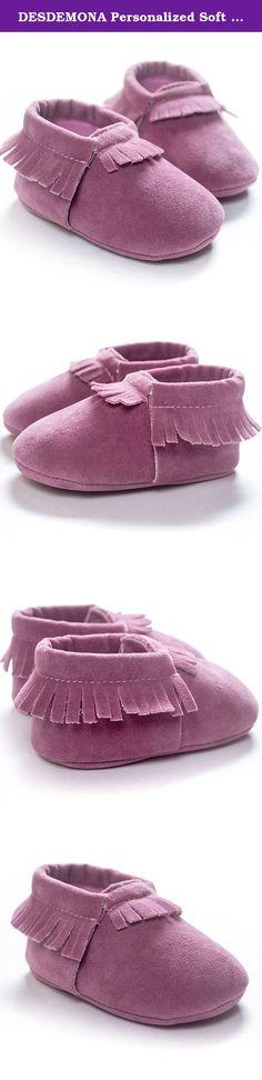 Baby Mocassin Girl Shoes Soft Sole Leather Toddler Kids Infant DeerLilac 12-18M