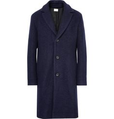 Made from a boiled wool and cotton-blend - a felt-like textile that's designed for a warmer, more durable effect - <a href='http://www.mrporter.com/mens/Designers/Simon_Miller'>Simon Miller</a>'s coat has a notably soft feel and heavily textured appearance. It's detailed with smart notch lapels and handsome horn buttons for a neat finish. The slim-fit and knee-length shape are hallmarks of classic outerwear, while its subtle t...