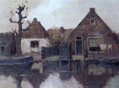 Piet Mondrian, A House along the River Gein on ArtStack #piet-mondrian #art
