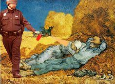 (midday rest (after Millet), Vincent van Gogh)