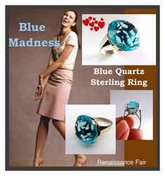 """Blue Madness"" by renaissance-fair ❤ liked on Polyvore featuring vintage"